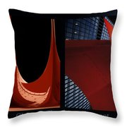 Chicago Flamingo Abstract 01 2 Panel Throw Pillow