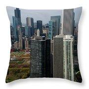 Chicago Harbor Point Throw Pillow