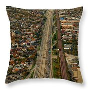 Chicago Highways 01 Throw Pillow