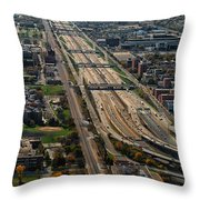 Chicago Highways 02 Throw Pillow