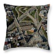 Chicago Highways 04 Throw Pillow
