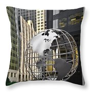Chicago - Home Of Fine Art Throw Pillow by Christine Till