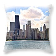 Chicago In The Spotlight Throw Pillow