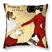 Chicago Kennel Club's Dog Show - Advertising Poster - 1902 Throw Pillow