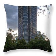 Chicago Lake Point Tower Throw Pillow