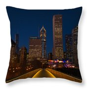 Chicago Lights Throw Pillow