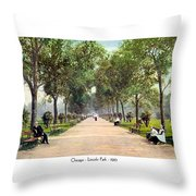 Chicago - Lincoln Park - 1910 Throw Pillow