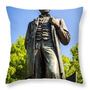 Chicago Lincoln Standing Statue Named The Man Throw Pillow