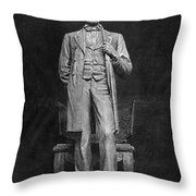 Chicago Lincoln Statue Throw Pillow