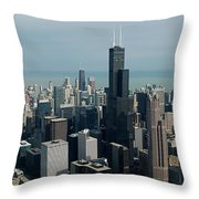 Chicago Looking East 04 Throw Pillow