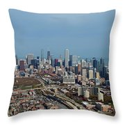 Chicago Looking North 01 Throw Pillow