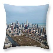Chicago Looking North 02 Throw Pillow