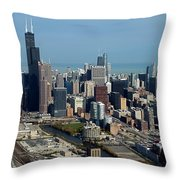 Chicago Looking North 03 Throw Pillow