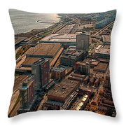 Chicago Looking South 02 Throw Pillow