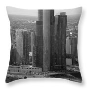 Chicago Modern Skyscraper Black And White Throw Pillow