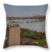 Chicago Montrose Harbor 01 Throw Pillow