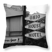 Chicago Motel Throw Pillow