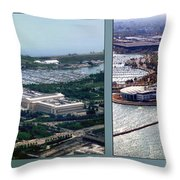 Chicago Museum Park 2 Panel Throw Pillow
