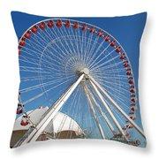Chicago Navy Pier Ferris Wheel Throw Pillow