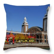 Chicago Navy Pier Headhouse Throw Pillow