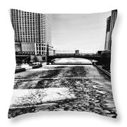 Chicago On Ice By Diana Sainz Throw Pillow
