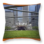 Chicago Pritzker Music Pavillion Triptych 3 Panel Throw Pillow