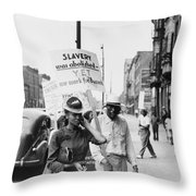 Chicago Protest, 1941 Throw Pillow