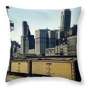 Chicago Railway Freight Terminal - 1943 Throw Pillow