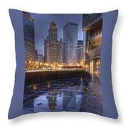Chicago Reflected Throw Pillow