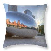 Chicago Reflection Throw Pillow