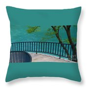Chicago River Green Throw Pillow