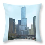 Chicago River Sights Throw Pillow