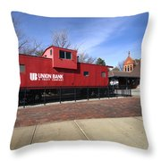 Chicago Rock Island Caboose Throw Pillow
