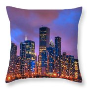 Chicago Skyline From Navy Pier View 2 Throw Pillow