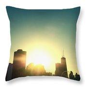 Chicago Skyline IIi Throw Pillow