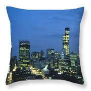 Chicago Skyline May 1983 Twilight Throw Pillow