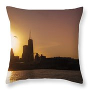 Chicago Skyline V Throw Pillow