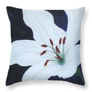 Chicago Snow White Lusterlily Throw Pillow