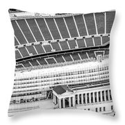 Chicago Soldier Field Aerial Panorama Photo Throw Pillow