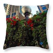 Chicago Street Light Throw Pillow