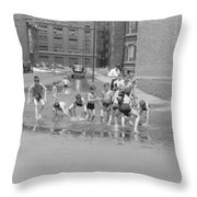 Chicago Summer, 1941 Throw Pillow