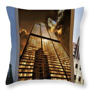 Chicago Tall Shoulders Trump Sears Tribune Triptych 3 Panel 01 Throw Pillow