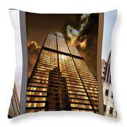 Chicago Tall Shoulders Trump Sears Tribune Triptych 3 Panel 02 Throw Pillow