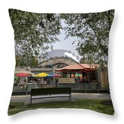 Chicago The Bean Lower Westside Throw Pillow