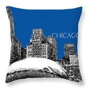 Chicago The Bean - Royal Blue Throw Pillow