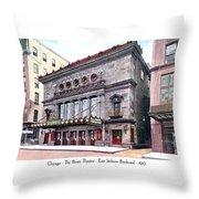 Chicago - The Illinois Theatre - East Jackson Boulevard - 1910 Throw Pillow