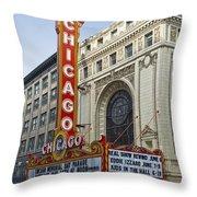 Chicago Theater Facade Southside Throw Pillow