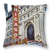 Chicago Theater Throw Pillow