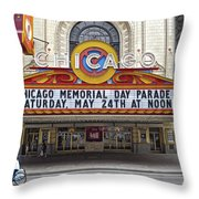 Chicago Theater Signage Throw Pillow