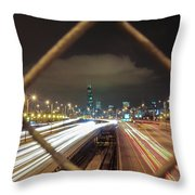 Chicago Long Exposure Throw Pillow